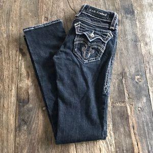 Rock Revival Debbie Straight Leg Black Jean 27